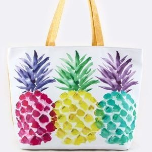 Pineapple Print Printed Summer Tote